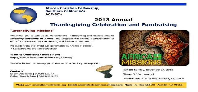 2013 Thanksgiving Fundraiser